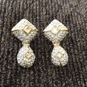 Swarovski gold tone and crystal earrings